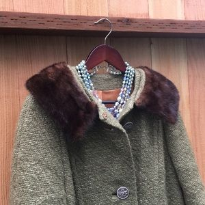 Vintage wool coat Pickfair Place from 50's Large
